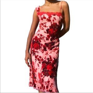 Betsey Johnson Velvet Burnout Slip Dress Size 2